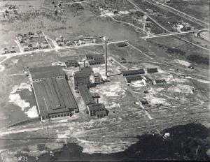 Photographie aérienne du village de Deschênes, 21 mai 1928