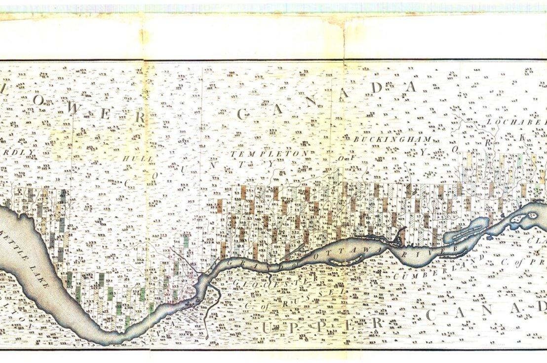 Le patrimoine des cartes anciennes : cette pointe de terre au sud du canton deHull