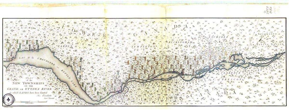 Le patrimoine des cartes anciennes : cette pointe de terre au sud du canton de Hull