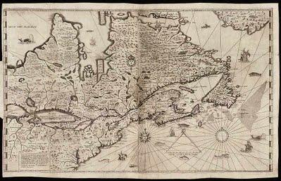 Carte de Sieur Samuel de Champlain, 1632