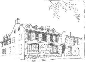 Sketch of the British Hotel in Aylmer, Quebec 71, rue Principale Built by Robert Conroy in 1834 Drawing Source: National Capital Commission Heritage, page 37