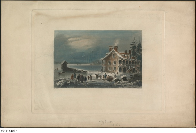 Aylmer, Upper Canada. ca. 1841, Bartlett, W. H. (William Henry), 1809-1854. QUE. : Aylmer ca. 1841. No. MIKAN 2840127
