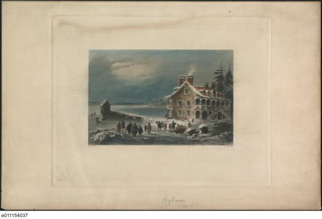 Aylmer, Upper Canada. ca. 1841, Bartlett, W. H. (William Henry), 1809-1854. QUE. : Aylmer ca. 1841. No. MIKAN 2840127