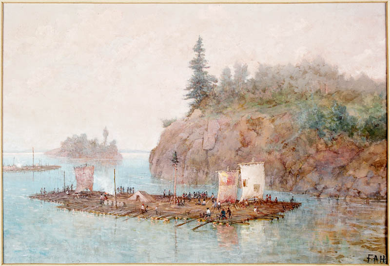 The Timber Raft. ca. 1868 Hopkins, Frances Ann, 1838-1918. BAC no Mikan - 2838095