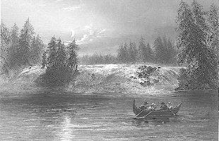 Glissoir à Les Chats, à Bytown, au Haut-Canada. 1842 Bartlett, W. H. (William Henry), 1809-1854. BAC - Mikan no. 2934410.